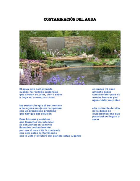 soneto sobre la contaminacin del agua contaminaci 243 n del agua versos sobre la contaminacion