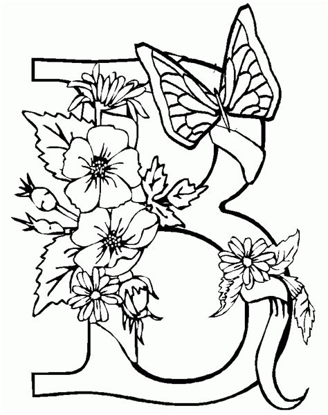 printable letters with butterflies activity coloring pages letter b butterfly shaped