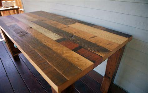 stunning reclaimed wood desks