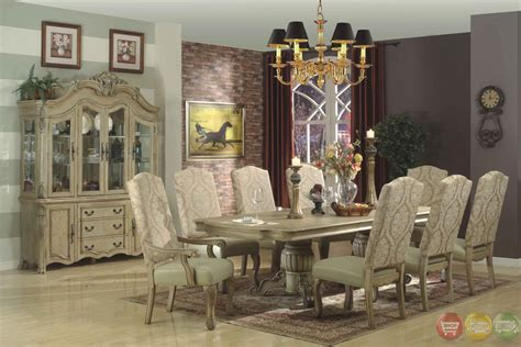 White Dining Room Furniture Sets Traditional Antique White Formal Dining Room Furniture Set