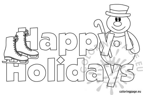 free coloring pages happy holidays happy holidays images coloring page