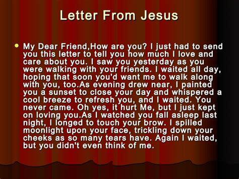 A Letter From Jesus Dear Friend letter from jesus