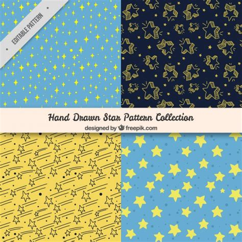 star pattern freepik hand drawn star patterns vector free download