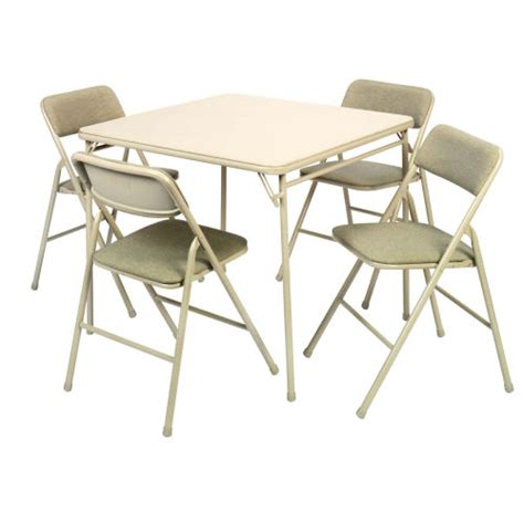 Foldable Table And Chairs by Cosco 174 5 34in Card Table And Chairs Set 14 551 Whd
