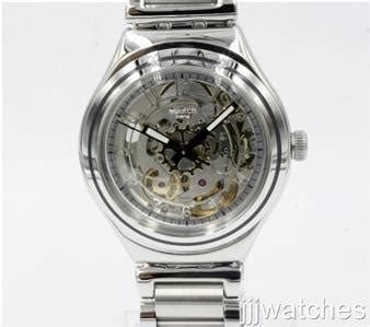 Swatch Charly Yas112g Original new swatch irony charly steel automatic mid size