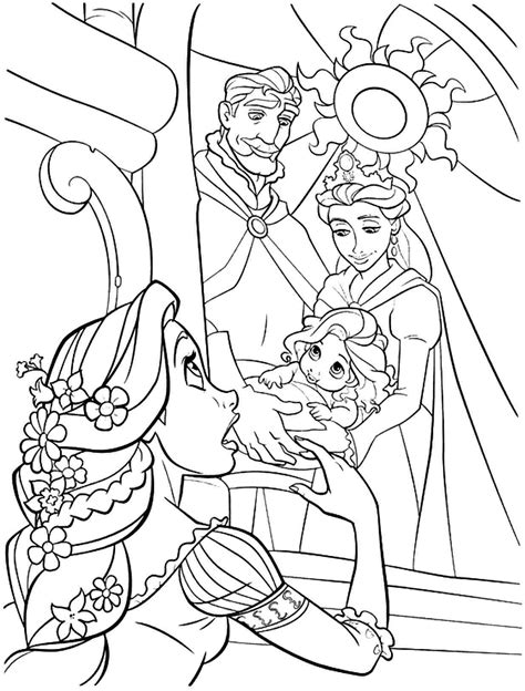 coloring pages of baby rapunzel tangled coloring pages 360coloringpages