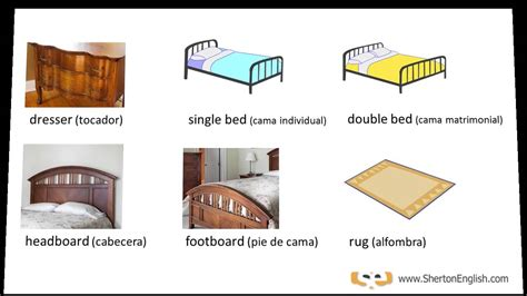 cama en ingles vocabulario ingl 233 s el dormitorio the bedroom youtube
