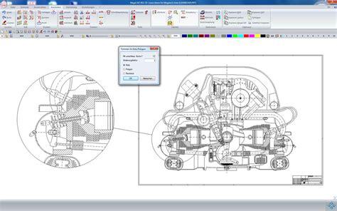 megacad 2d moderne 2d cad software