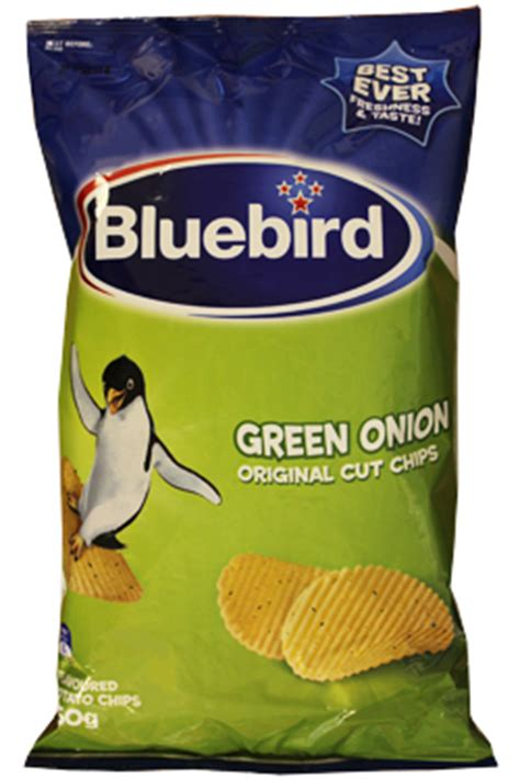 bluebird green onion chips chips from new zealand