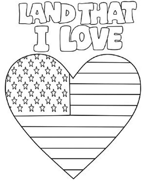 patriotic heart coloring page 105 best images about patriotic fun for kids on pinterest