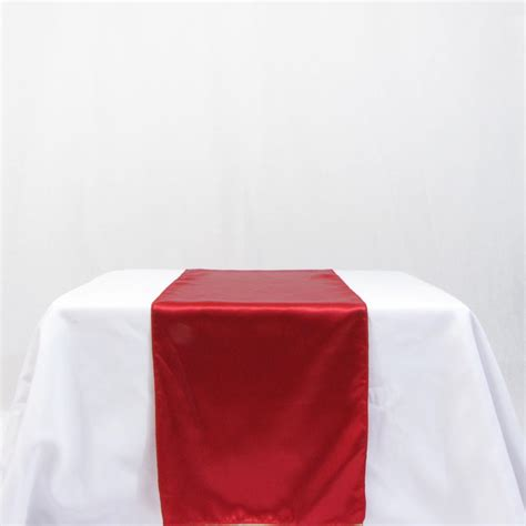 satin wedding table runner