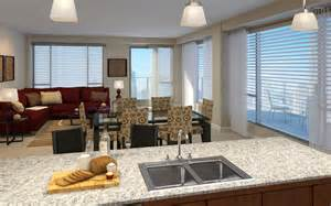 Open Kitchen And Dining Room open space living room dining room and kitchen wallpaper