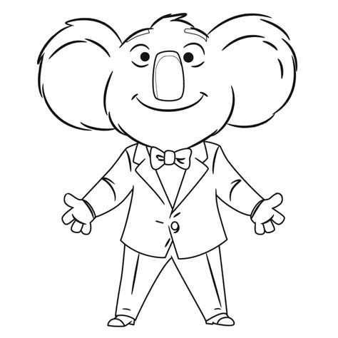 sing movie coloring pages coloring home