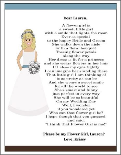 Flower Poem Wedding by Bridesmaid Poems Flower Gifts And Poem On