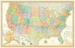 framed united states map 32x50 rand mcnally united states us usa framed wall map