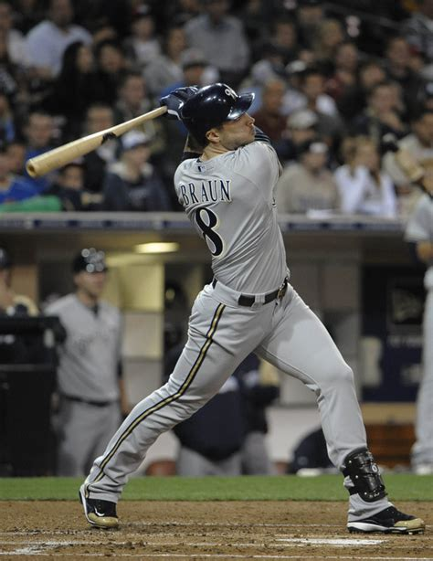 ryan braun swing crew rides braun s three homer effort at petco