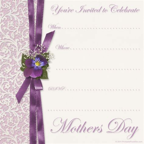 free printable party invitations mothers day invite template