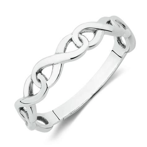 infinity rings sterling silver infinity link ring in sterling silver
