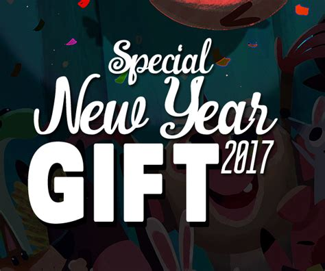 special new year 2017 free gift resources graphic