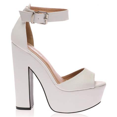 white platform sandal heels brandi white platform high heel sandals