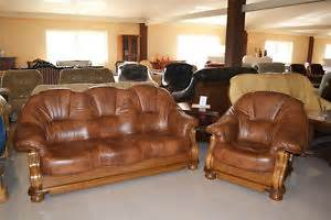 Leather And Wood Sofa Leather Wood Sofa Ebay