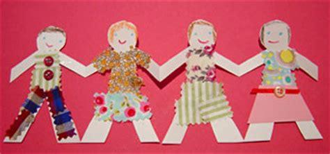 How To Make Cut Out Paper Dolls - paper doll chains kiddley