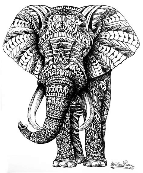 ornate elephant by slightly spartan on deviantart