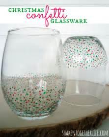 Unique Barware Gift Ideas Easy Diy Confetti Glassware