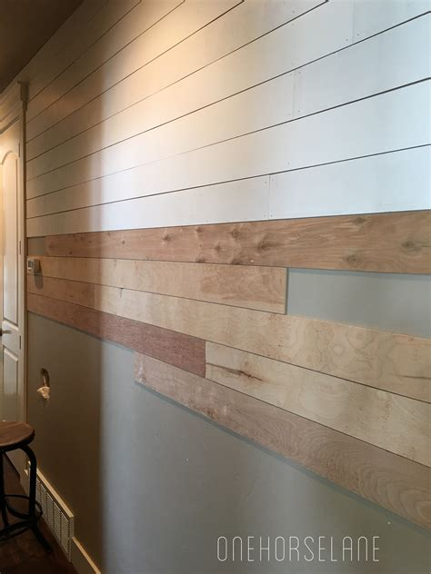 shiplap made from plywood diy shiplap wall easy cheap and beautiful part 1 one