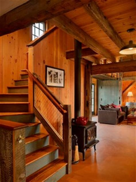 stunning rustic cabin plans loft with wooden staircase princeton barn conversion rustic staircase