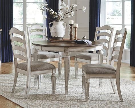 realyn  piece oval dining room extension table set