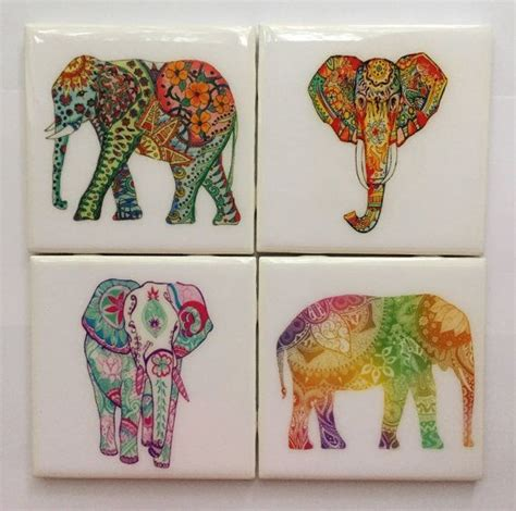 25 unika colorful elephant id 233 er p 229 elefanter
