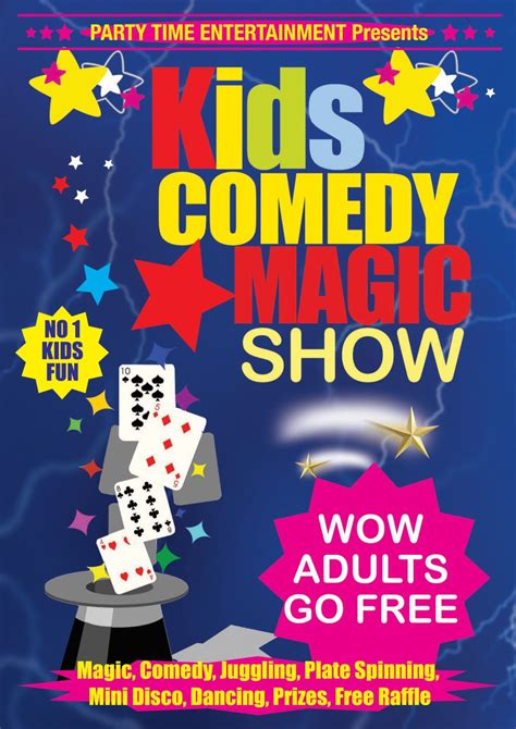 kids comedy magic show   castlebar mykidstime