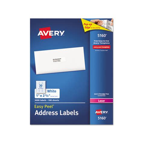 printing address labels hp printer avery easy peel mailing address labels ave5160 shoplet com