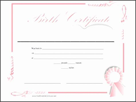 7 Birth Certificate In Ms Word Sletemplatess Sletemplatess Birth Certificate Template For Microsoft Word