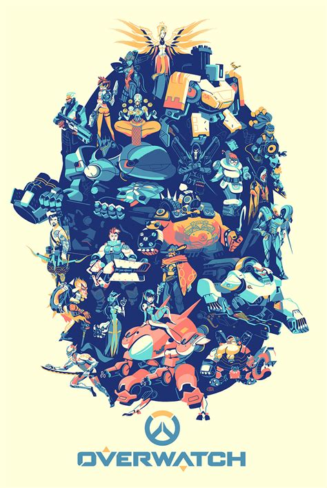 the art of overwatch inside the rock poster frame blog hero complex gallery and blizzard entertainment overwatch posters