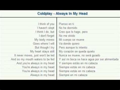 free download mp3 coldplay always in my head coldplay always in my head lyrics traducida al espa 241 ol