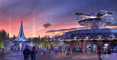the new paris the star tours upgraded disneyland paris starport brought to life atmospheric new artwork dlp