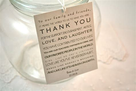 Kitchen Tea Gift Ideas For Guests wedding favors thank you wedding favors party wording