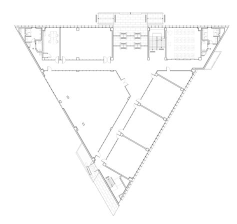 triangular floor plan triangle school by nameless architecture has a three sided courtyard