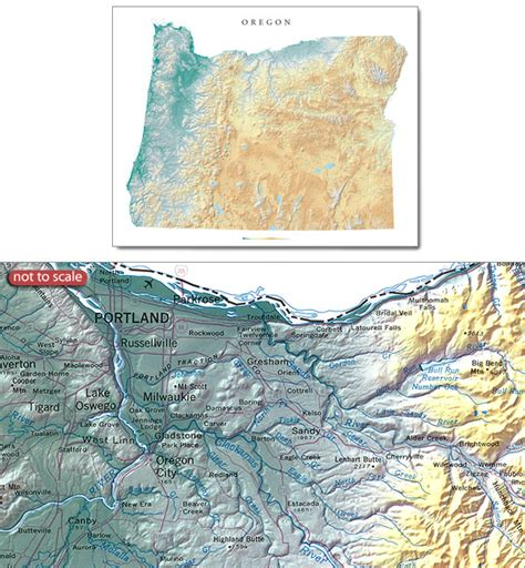 oregon wall map oregon state physical wall map stanfords