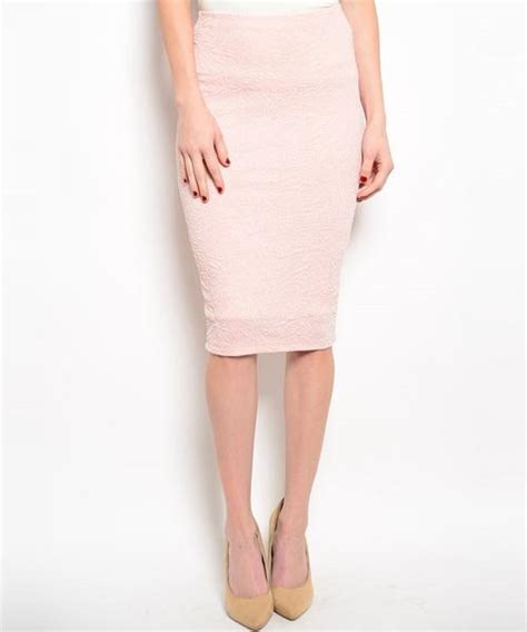 glitter raised texture below knee length pencil skirt in