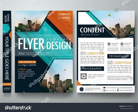 cover book presentation brochure design template stock