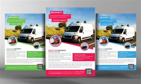 delivery and shipment flyer template flyer templates on