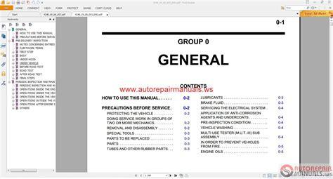 Mitsubishi Pajero Eur 2008 Service Manual Auto Repair