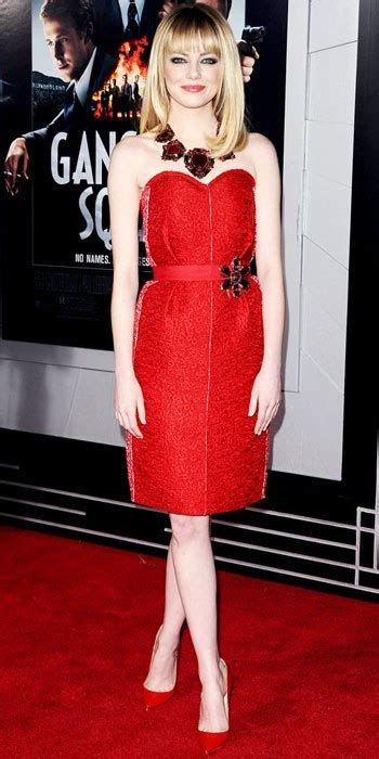 emma stone red dress emma stone in a red strapless dress by lanvin with red