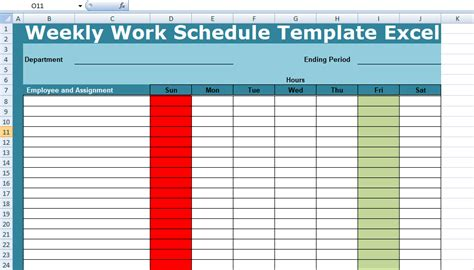weekly work plan template excel work schedule template excel choice image template