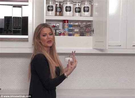khloe kardashian organization khloe kardashian reveals more of her organized kitchen