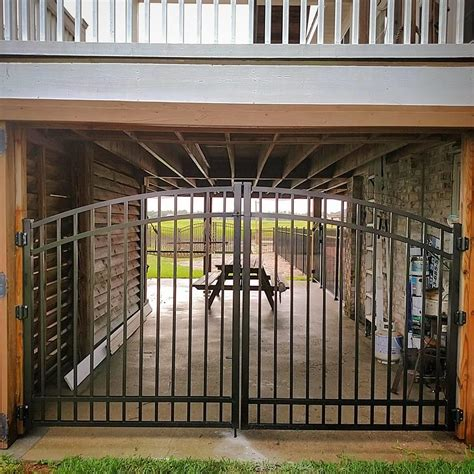 mc fence  deck commercial fencing driveway gate