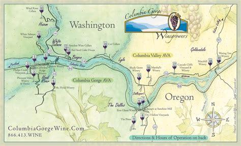 map of oregon gorge columbia gorge wine map lyle washington mappery